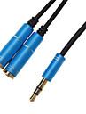 3,5 mm hörlursuttag Man till 2 Kvinna Splitter Cable Blå (0,3 M)