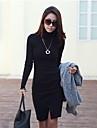 YGR kvinna svart Fitted Jaguaren shirts Klänning