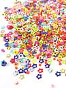 1PCS Box Hollow Colorful femuddig stjärna Nail Art Decoration