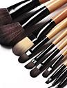 15st mjuka syntetiska hår svart set med läderfodral
