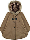 Femei de moda Cape Coat Faux blana Hooded Batwing Pocket pelerina Poncho Dolman șal Îmbrăcăminte de exterior