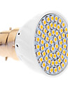 5W B22 Spot LED 60 SMD 3528 420 lm Blanc Chaud AC 100-240 V