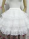 ängel stil vit mesh klassiska lolita kjol (midja: 60-85 längd 45)