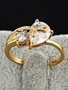 Or 18K anneau de Zircon de Bin Bin femmes (J28294)