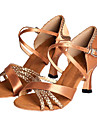Chaussures de dansePersonnalisables-Talon Personnalisé-Satin-Latine Salon Salsa