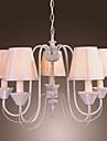 candelabru modern, cu 5 lumini în alb