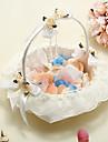 Flori Coș cu fildeș satin cu dantelă și de cristal pandantiv