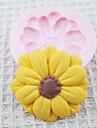 Ett Hål Sunflower Silikon Mögel Fondant Formar Sugar Craft Verktyg Choklad Mould För kakor