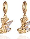 Boucles d'oreilles en or 18 carats Zircon ER0309 de Yueli femmes