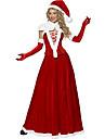 Pieces Costume de Noël Red Velvet de Santa Reine 5