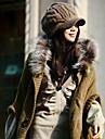 Femei de iarnă lână de tricotat Hat