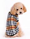 Hundar Tröjor Brun Hundkläder Vinter Rutig / Check