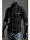 Tricouri omului alb / negru cu mânecă lungă de bumbac