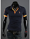 LJCP Trendy Deer model maneca scurta Polo Shirt (Navy Albastru)