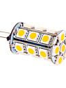 5W G4 LED-lampa T 24 SMD 5050 370 lm Varmvit DC 12 V