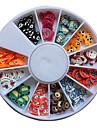 120PCS de modèle mixte coloré décoration animale de bande dessinée Fimo Slice animaux Nail Art