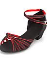 Kid élégant de courroie de cheville de satin / femmes latine / Ballroom chaussures de danse (plus de couleurs)