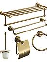 accessoires de bain ensemble, Antiquités 5 Piece anodisation ensemble du matériel d'aluminium