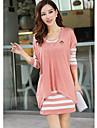 Femei stilat Elegant Contract de culoare pulover