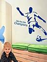 Fotboll Man DIY Självhäftande flyttbara Väggdekal Vi är Champions