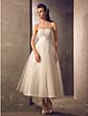 A-line rochie de mireasa taffeta tul de nunta fara curea de trandafiri rosii