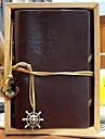 vintage 18x14cm läder tidskriften mönster spiral memo kreativa notebook (slumpmässig färg)