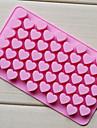 coeur d'amour plateau en forme de chocolat, silicone 55 trous (randoms couleur) cm-87