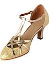 Chaussures de danse(Argent Or) -Non Personnalisables-Talon Personnalisé-Similicuir Paillette Brillante-Moderne Salon