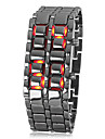 Men's Watch Lava Style Red LED Digital Calendar Cool Watch Unique Watch