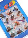 12 pcs Mouches / Kits de leurre / leurres de pêche Mouches / Kits de leurre Couleurs assorties g/<1/18 Once mm pouce,Métal Pêche au leurre