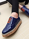 Mäns Patent Leather Flat Heel Comfort Oxfords Skor (fler färger)
