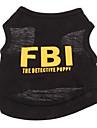 Chien Tee-shirt Jaune Noir Vêtements pour Chien Eté Police/Militaire Lettre et chiffre Vacances Mode