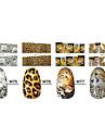1x10PCS Animal Skin Leopard Sery heltäckande Nail Stickers (Assorted Patterns)