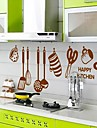 Kitchen Ware Mönster DIY Självhäftande flyttbara Väggdekal