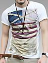 Bărbați Retro Print Slim subțire T-Shirt