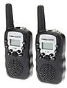 T388 2pcs/pair contenant deux talkies-walkies Noir