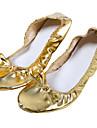 Chaussures de pratique de danse de ventre de cuir des femmes professionnelles
