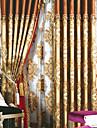 européens néoclassiques deux panneaux botanique florale brun linge de chambre rideaux à panneaux en coton mélangé rideaux