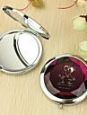 Motif personnalisé d'amoureux de cadeau Chrome miroir compact