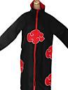 Inspiré par Naruto Akatsuki Anime Costumes de cosplay Costumes Cosplay Imprimé Noir / Rouge Manche Longues Cape