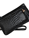 Mega kvinnor Hand Hold Crocodie Purse (Black)