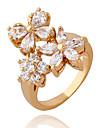 Xinxin Kvinnors 18K guld zirkon ring J1176