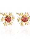 Boucles d'oreilles en or 18 carats Zircon ERZ0275 de Xinxin femmes