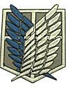 Bijoux / Badge Inspiré par Attack on Titan Eren Jager Anime Accessoires de Cosplay Badge Blanc / Bleu Polyester Masculin