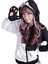 Inspirerad av Dangan Ronpa Monokuma Video Spel Cosplay Kostymer/Dräkter cosplay Pull Lappverk Svart Lång ärm Kappa