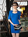 TS Simplitate Low Cut Metal Collar Ring manta Dress