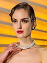 hohe Qualität tschechisch Strass-Legierung überzogen Hochzeit Halskette und Ohrringe Schmuck-Set