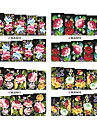 1x10PCS Colorful Blossom Mönster Vattentransfertryck Nail Art Sticker Decal (Assorted Patterns)