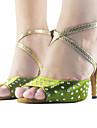 Anpassade Kvinnors Satin Övre Ankel Strap Latin / Ballroom Dance Shoes med Rhinestone Fler färger