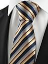 New dungi de aur Jacquard de afaceri barbati Tie Cravată pentru cadouri de vacanță